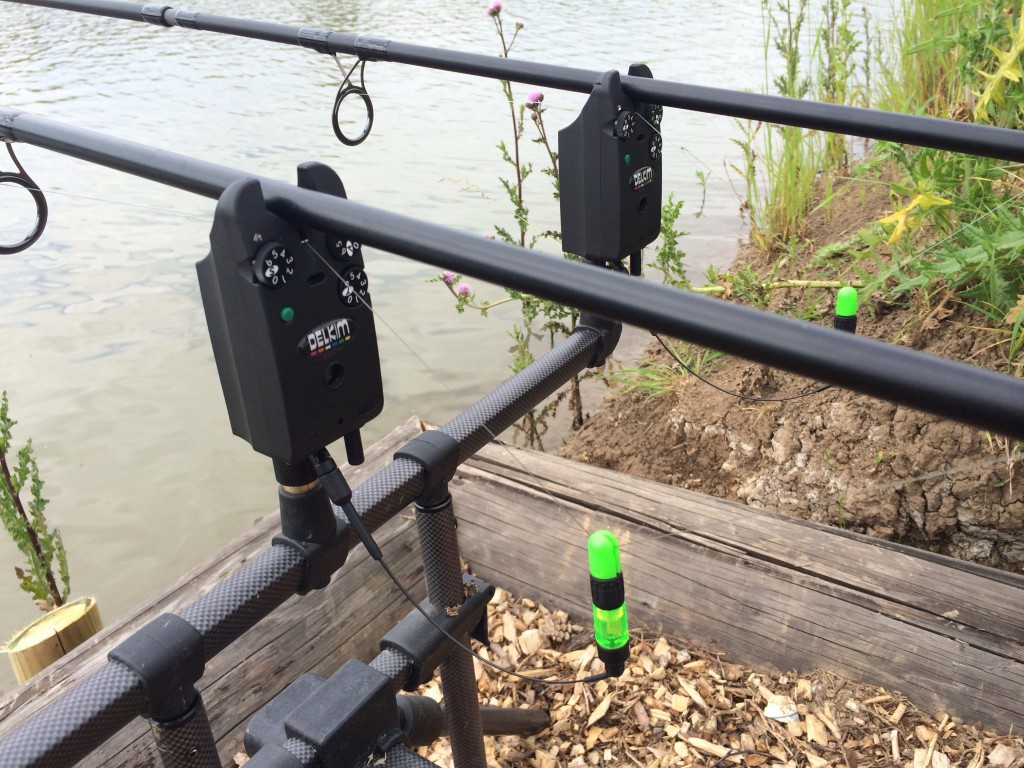 Green bobbins with green Delks - tackle tart!